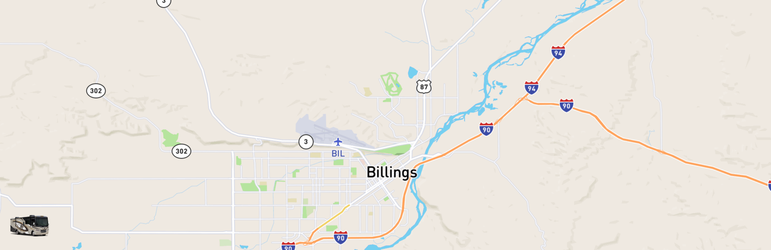 Class A RV Rentals Map Billings, MT