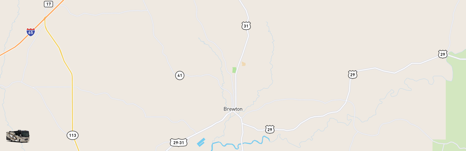 Class A RV Rentals Map Brewton, AL
