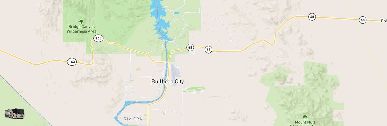Class A RV Rentals Map Bullhead City, AZ