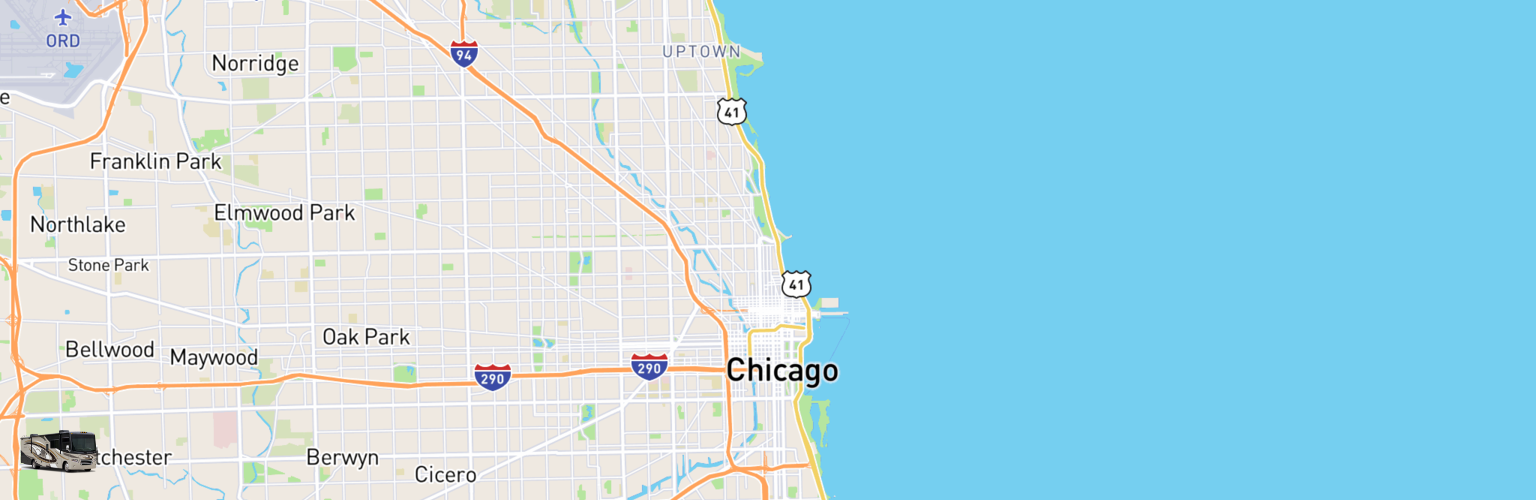 Class A RV Rentals Map Chicago, IL