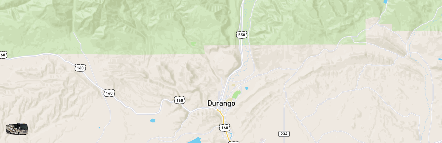 Class A RV Rentals Map Durango, CO