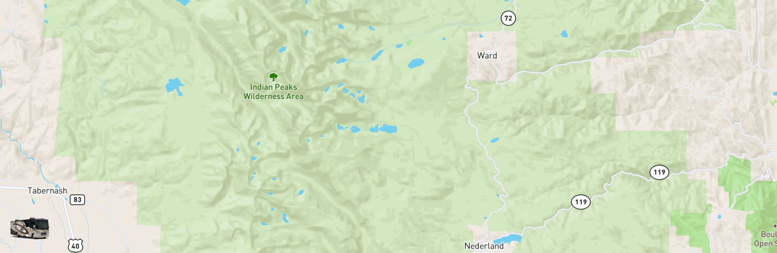 Class A RV Rentals Map Eastern Slope, CO