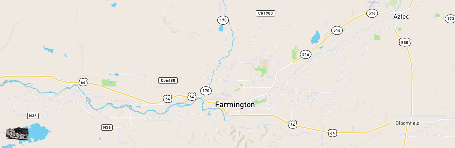 Class A RV Rentals Map Farmington, NM