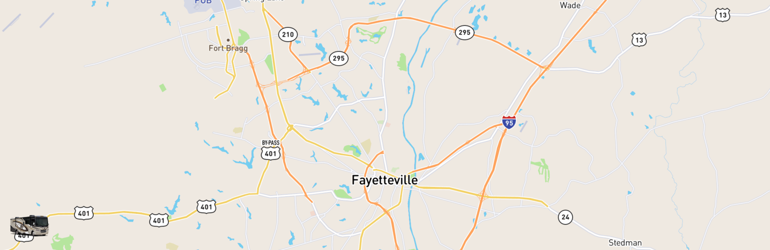 Class A RV Rentals Map Fayetteville, NC