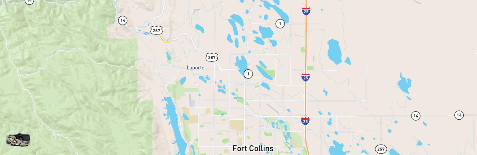 Class A RV Rentals Map Fort Collins, CO