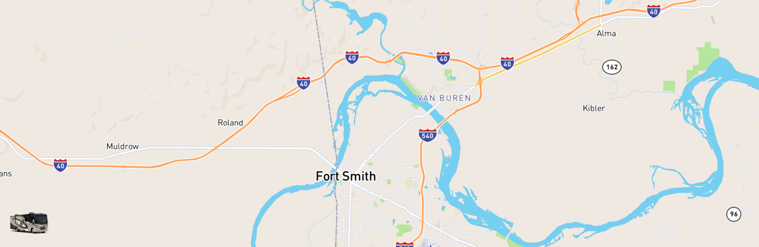 Class A RV Rentals Map Fort Smith, AR
