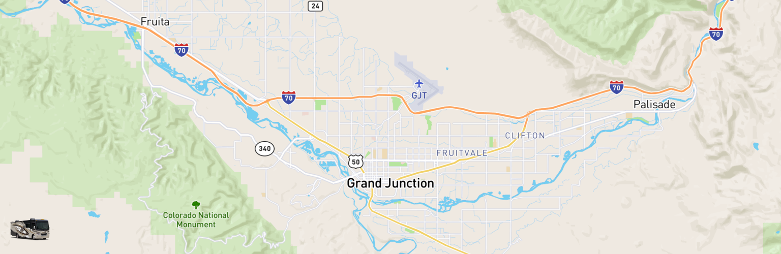 Class A RV Rentals Map Grand Junction, CO