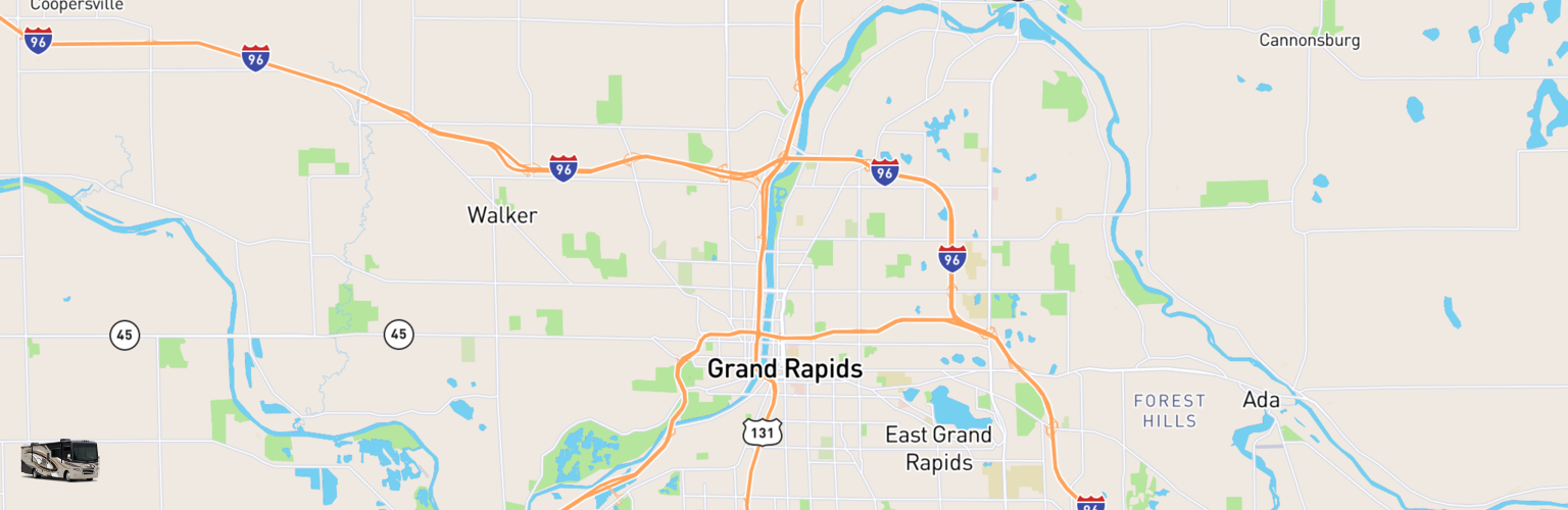 Class A RV Rentals Map Grand Rapids, MI