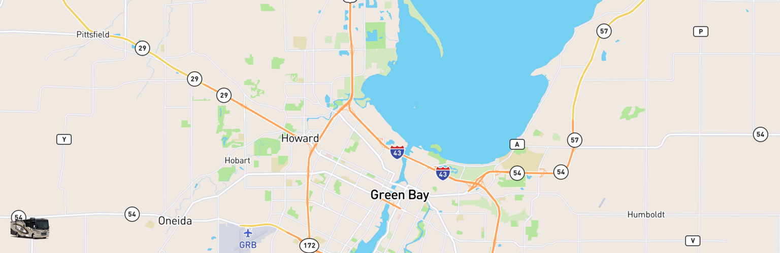 Class A RV Rentals Map Green Bay, WI