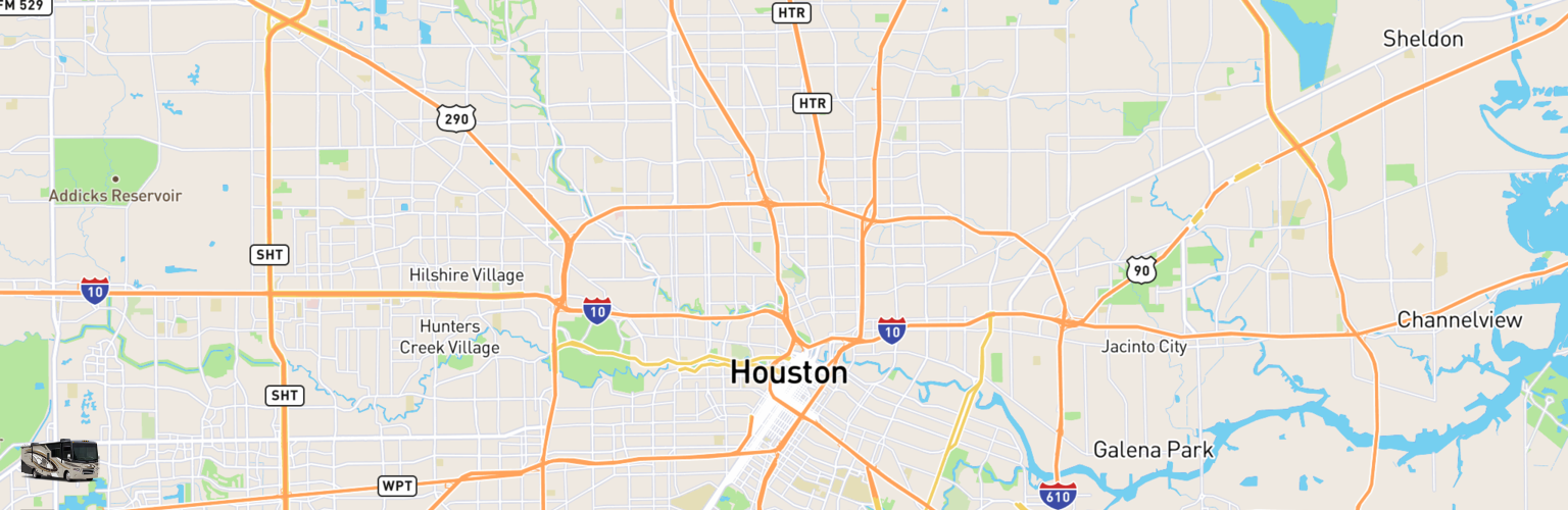 Class A RV Rentals Map Houston, TX