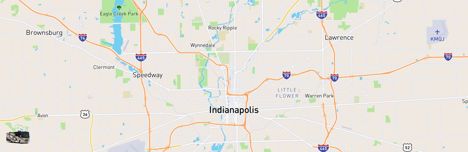 Class A RV Rentals Map Indianapolis, IN