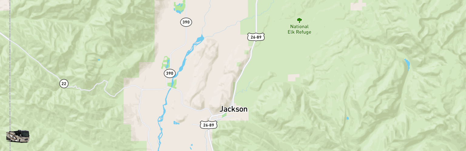 Class A RV Rentals Map Jackson, WY