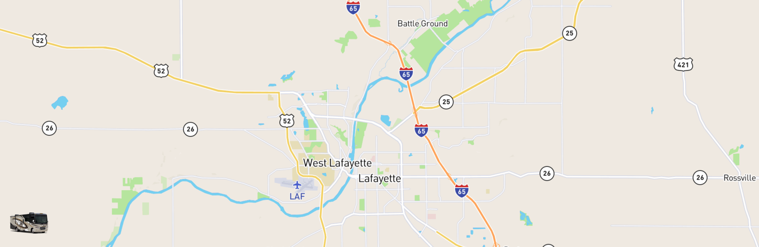 Class A RV Rentals Map Lafayette, IN