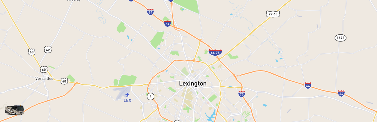 Class A RV Rentals Map Lexington, KY