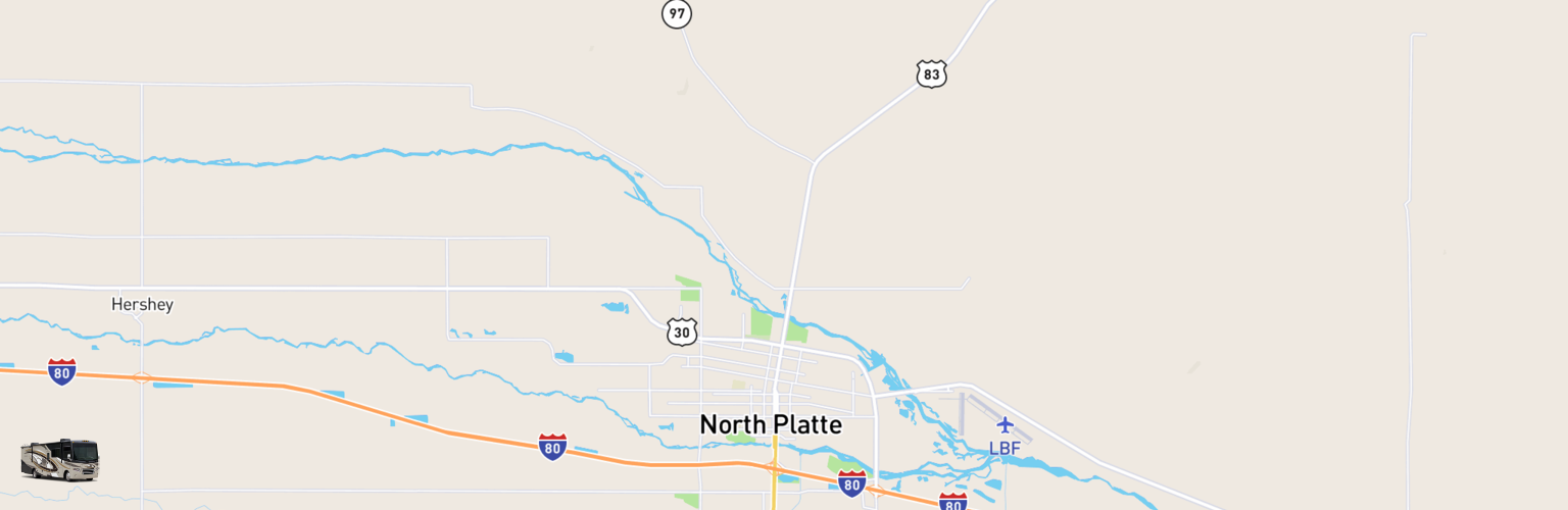 Class A RV Rentals Map North Platte, NE