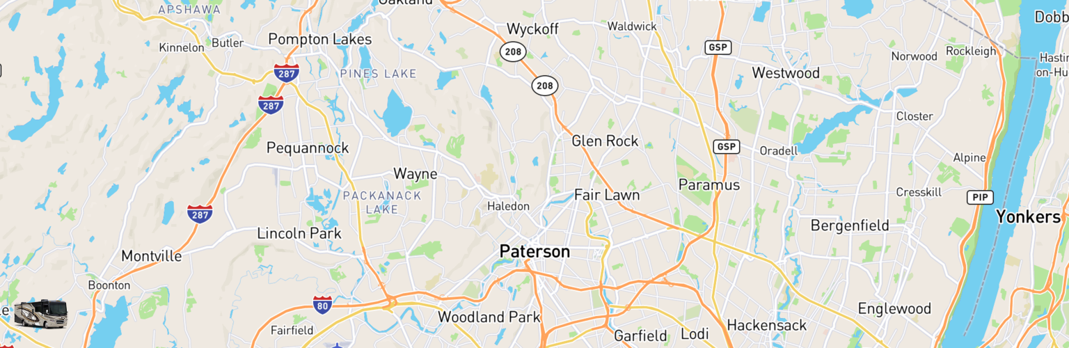 Class A RV Rentals Map Paterson, NJ