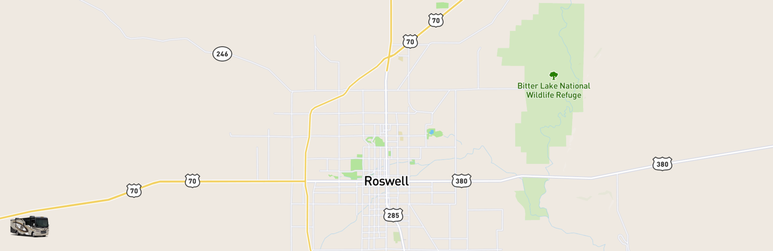 Class A RV Rentals Map Roswell, NM
