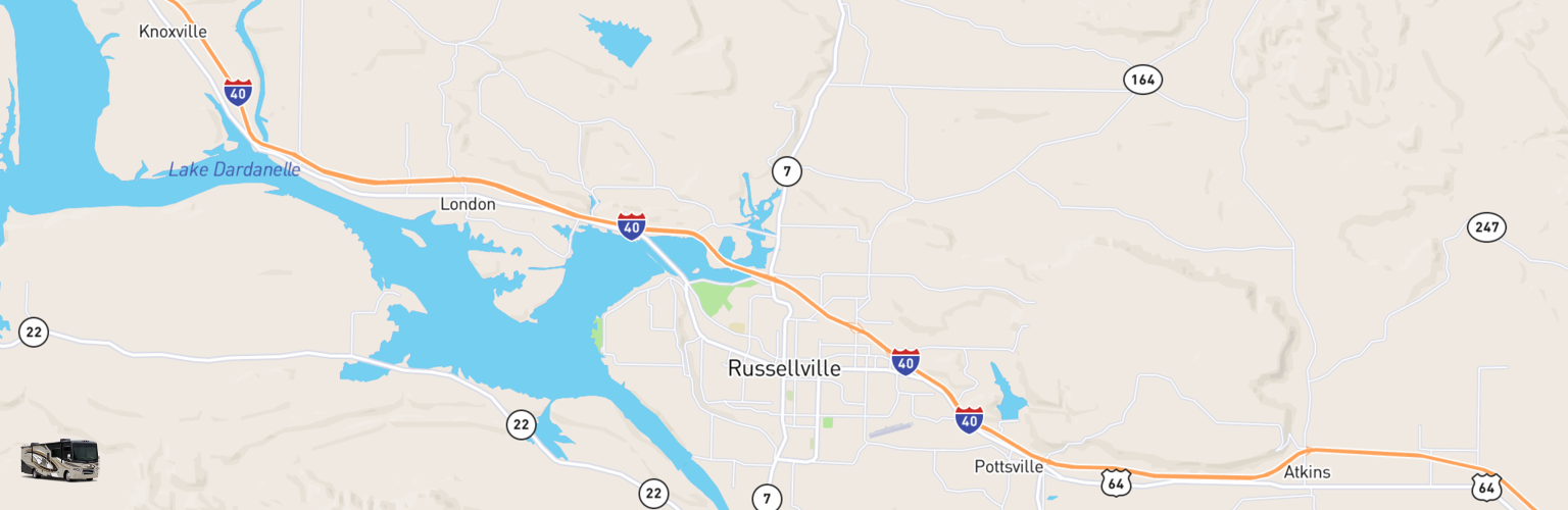 Russellville Arkansas Map.Class A Rv Rental Russellville Ar Compare Rates Reviews