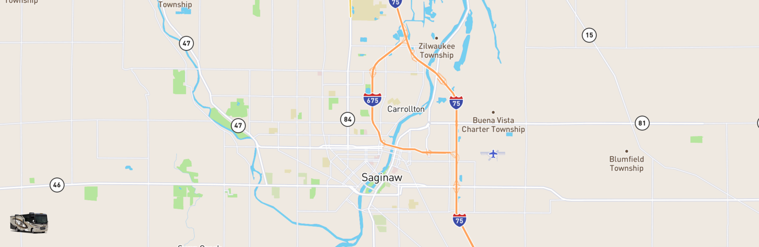 Class A RV Rentals Map Saginaw, MI