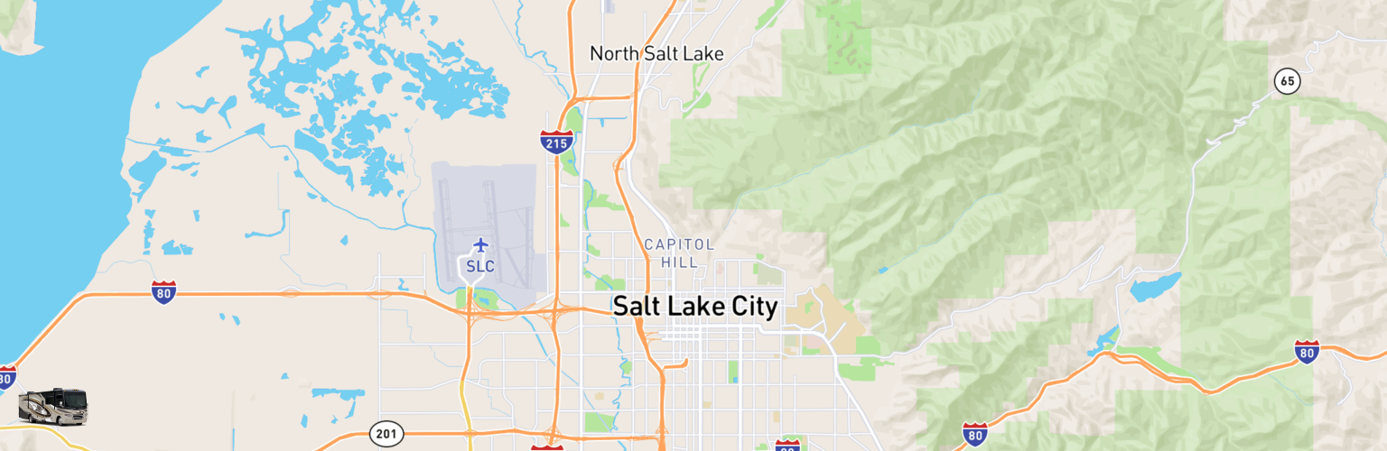 Class A RV Rentals Map Salt Lake City, UT