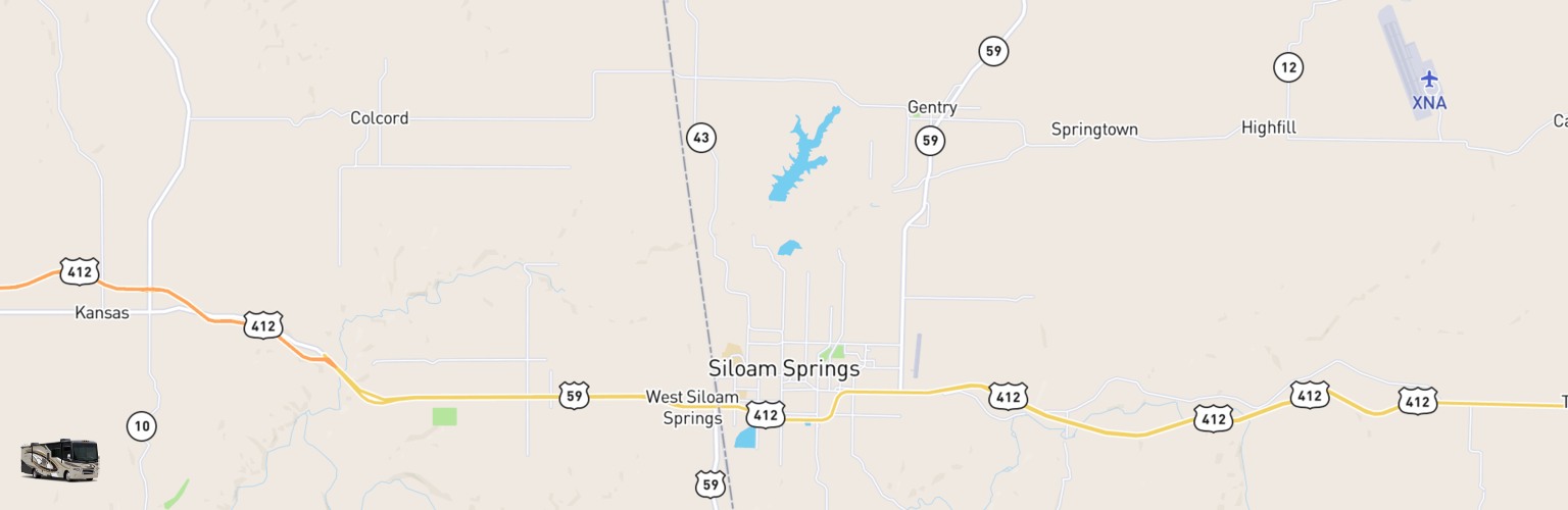 Class A RV Rentals Map Siloam Springs, AR