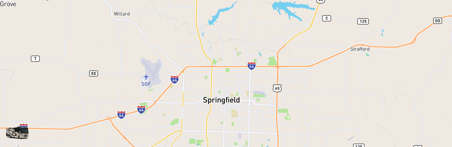 Class A RV Rentals Map Springfield, MO