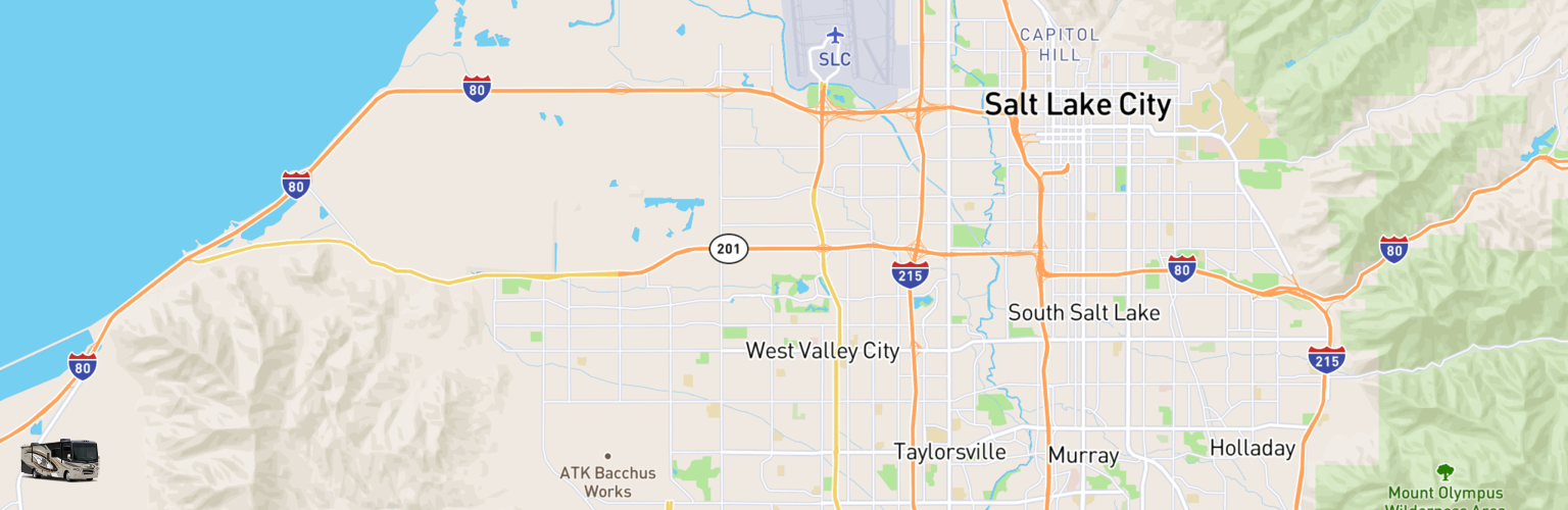 Class A RV Rentals Map West Valley City, UT