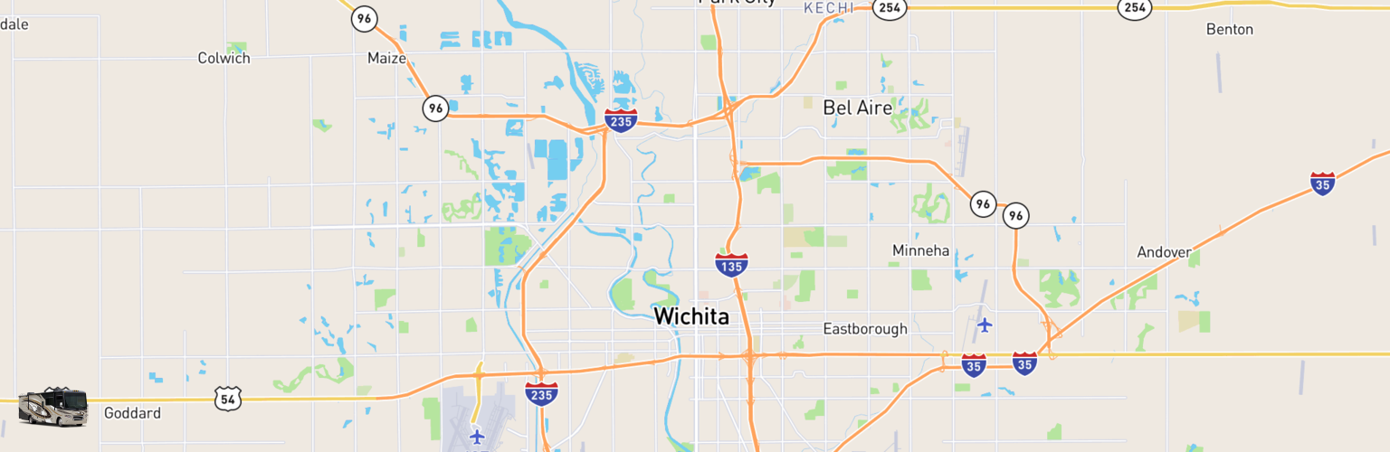 Class A RV Rentals Map Wichita, KS