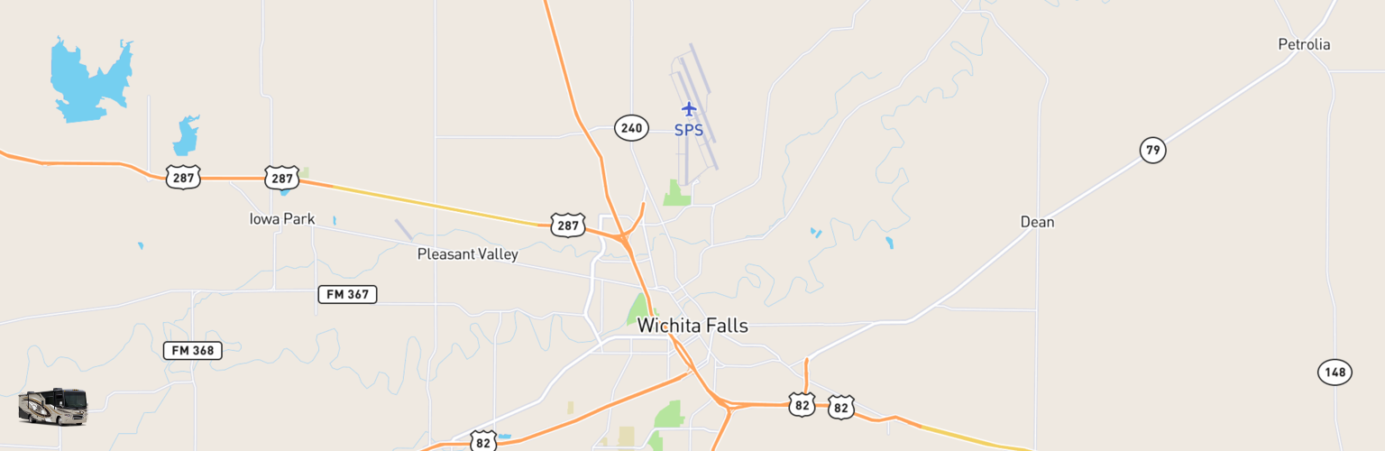 Class A RV Rentals Map Wichita Falls, TX