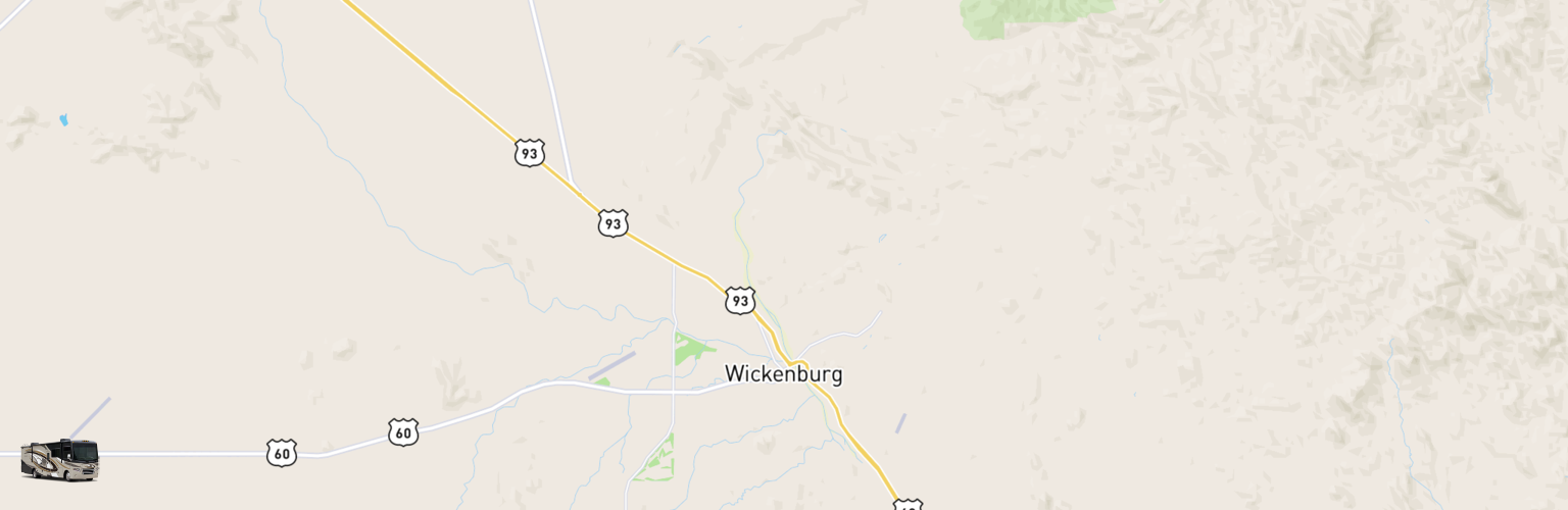 Class A RV Rentals Map Wickenburg, AZ