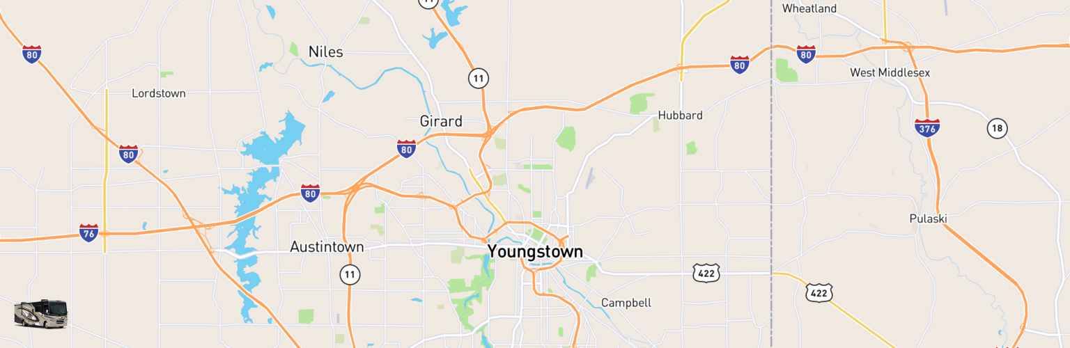 Class A RV Rentals Map Youngstown, OH