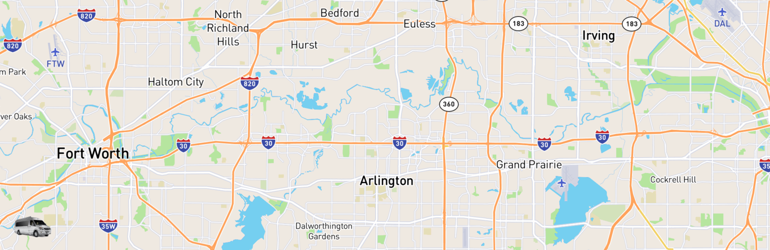 Class B RV Rentals Map Arlington, TX