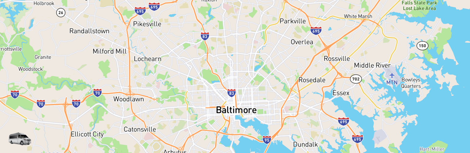Class B RV Rentals Map Baltimore, MD