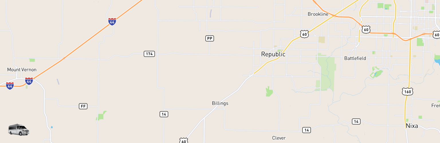 Class B RV Rentals Map Billings, MO