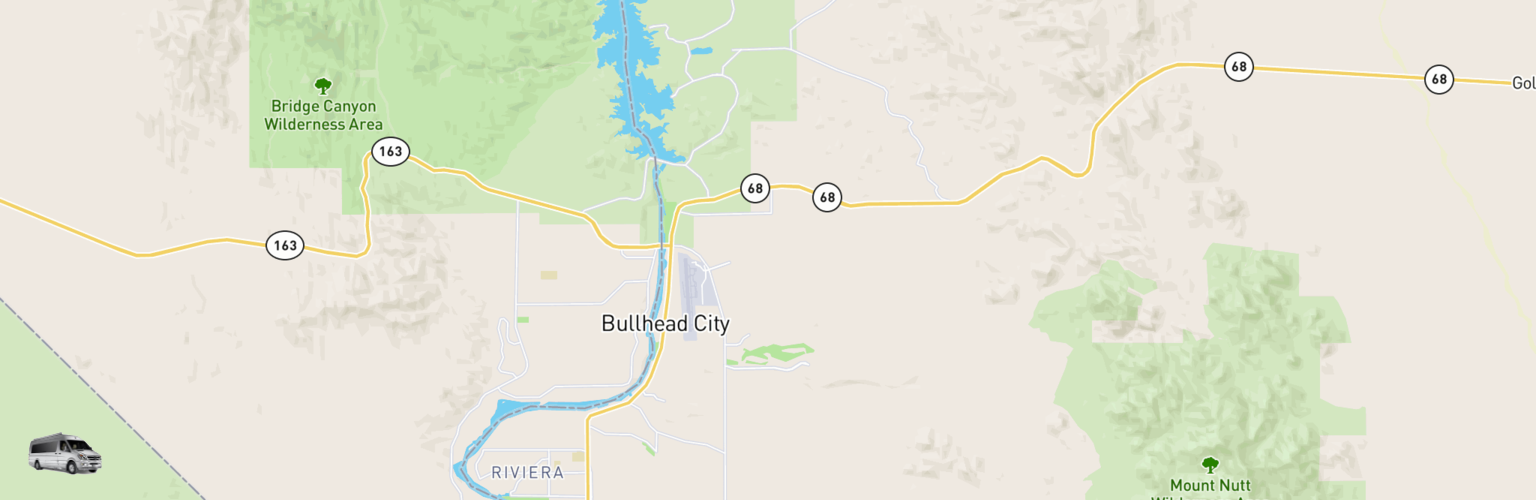 Class B RV Rentals Map Bullhead City, AZ