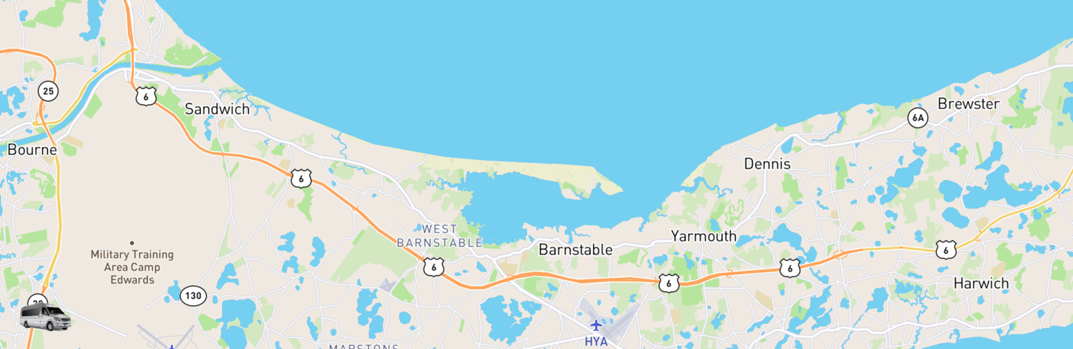 Class B RV Rentals Map Cape Cod, MA