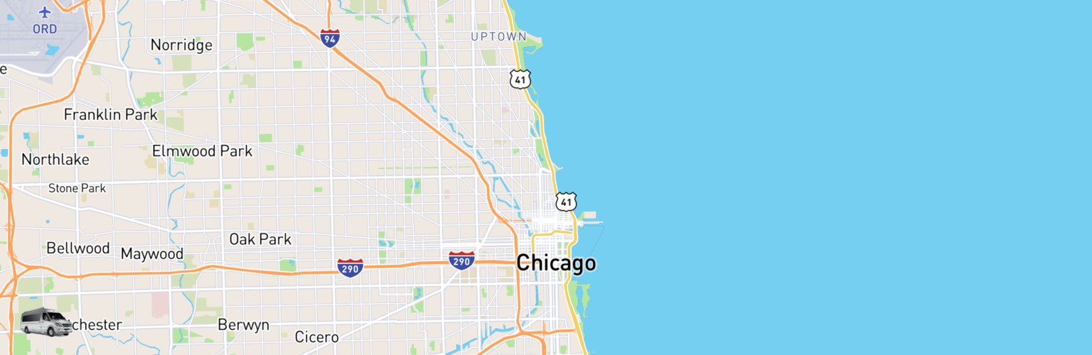 Class B RV Rentals Map Chicago, IL