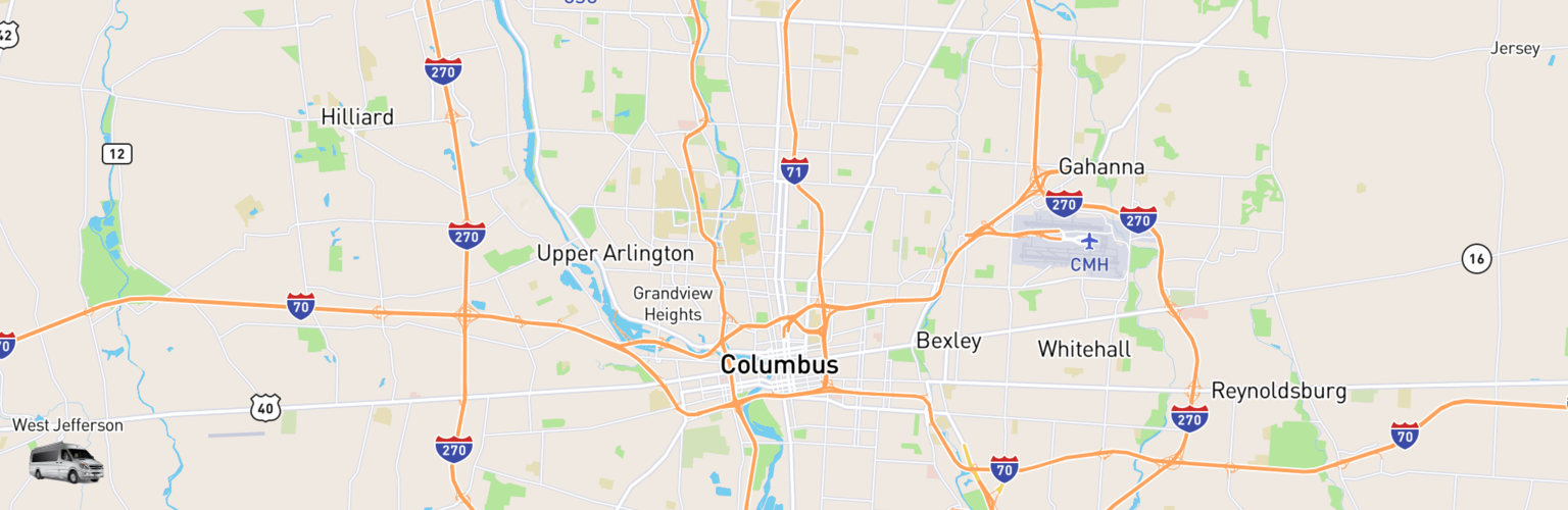 Class B RV Rentals Map Columbus, OH