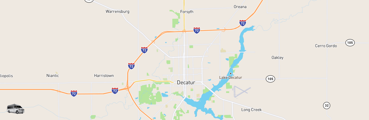 Class B RV Rentals Map Decatur, IL