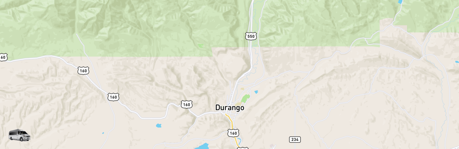 Class B RV Rentals Map Durango, CO