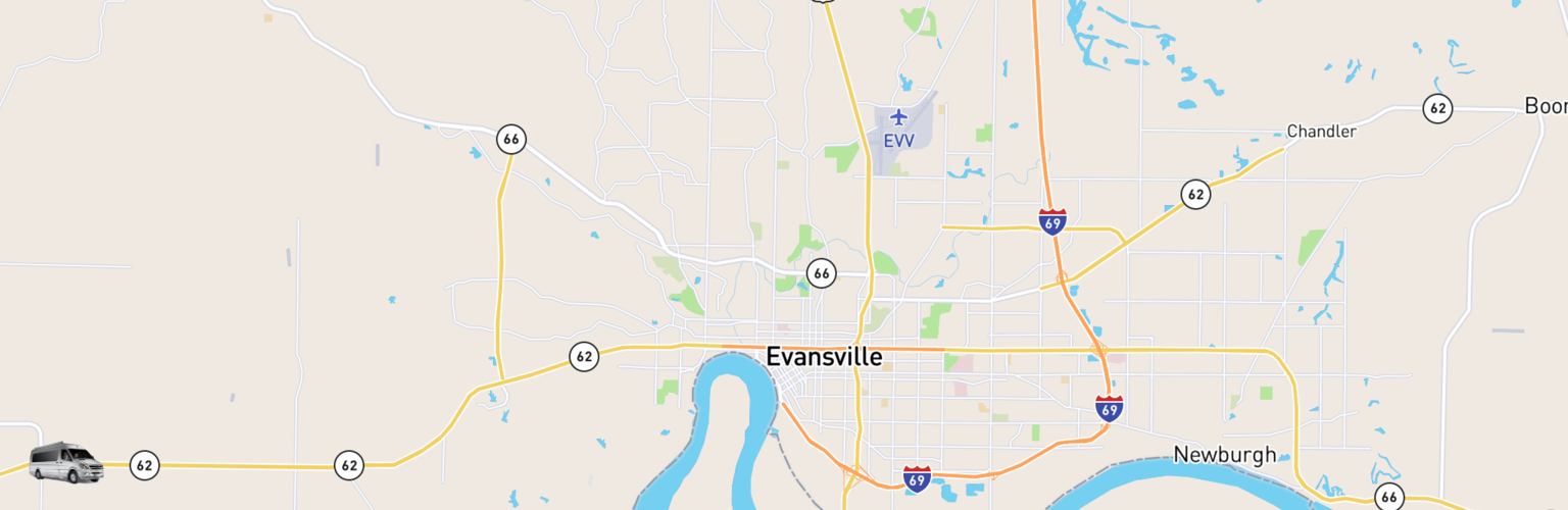 Class B RV Rentals Map Evansville, IN