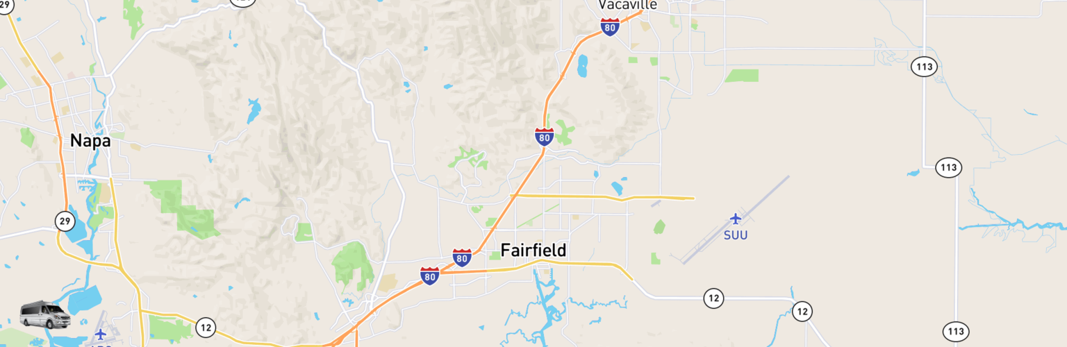 Class B RV Rentals Map Fairfield, CA