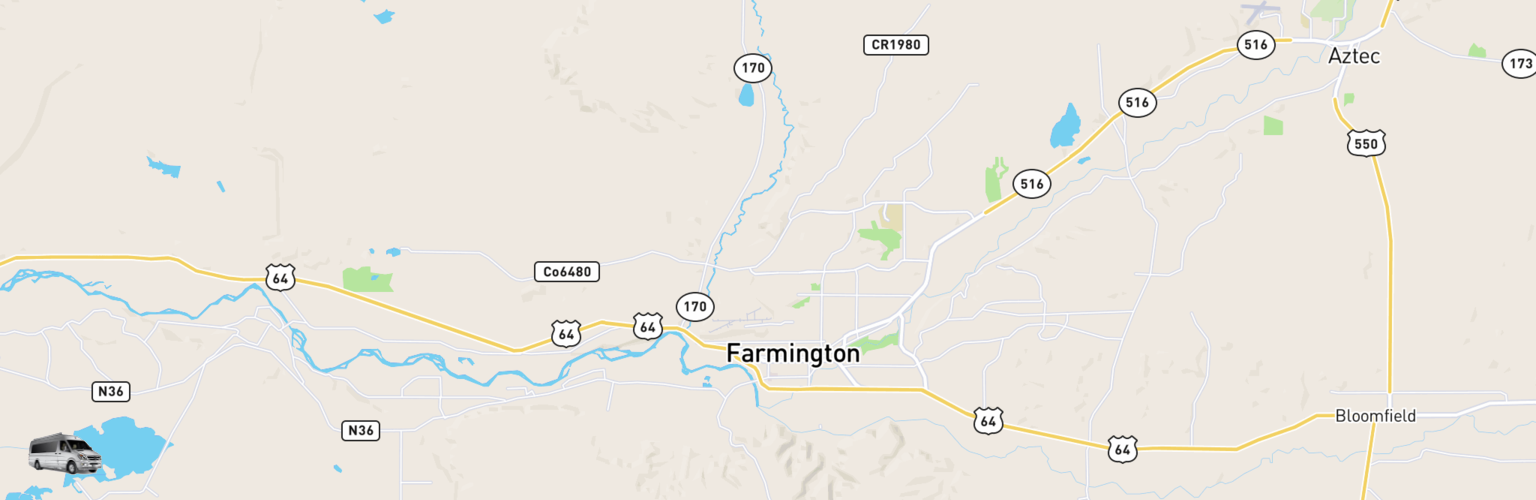 Class B RV Rentals Map Farmington, NM