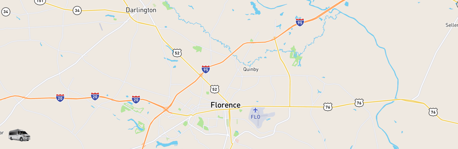 Class B RV Rentals Map Florence, SC