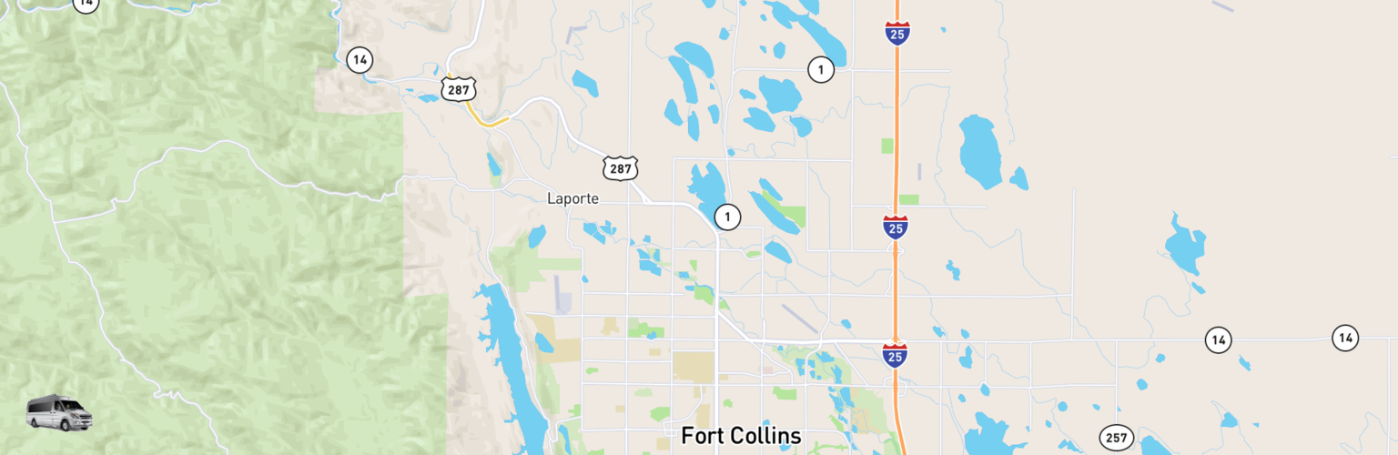Class B RV Rentals Map Fort Collins, CO