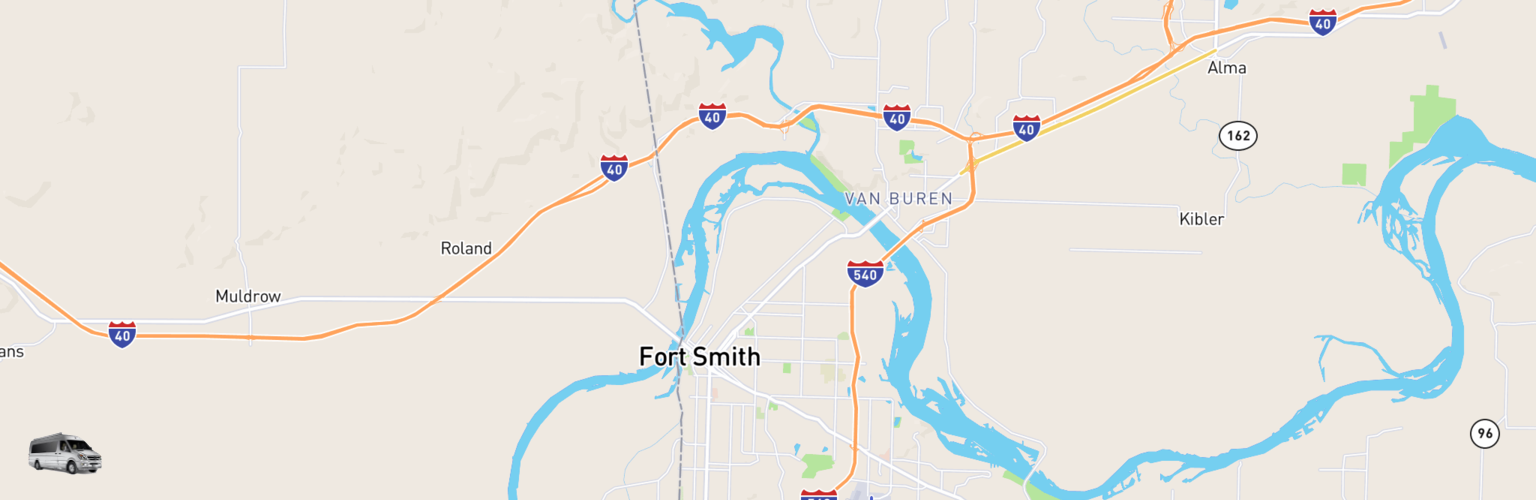 Class B RV Rentals Map Fort Smith, AR