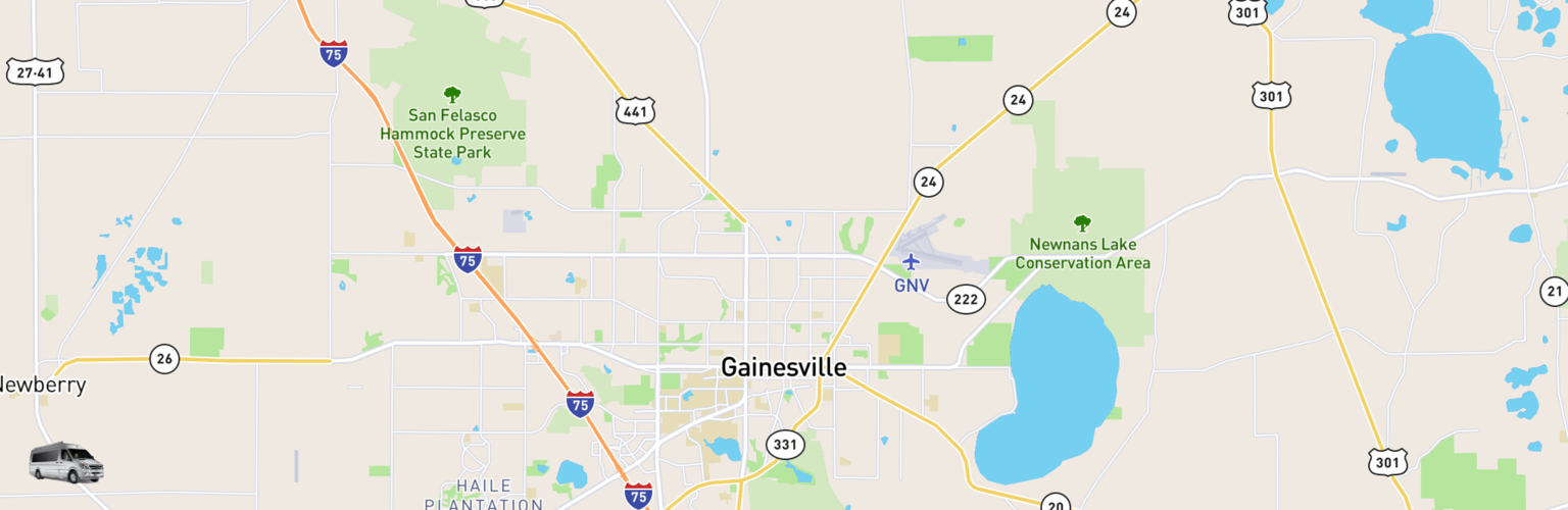 Class B RV Rentals Map Gainesville, FL