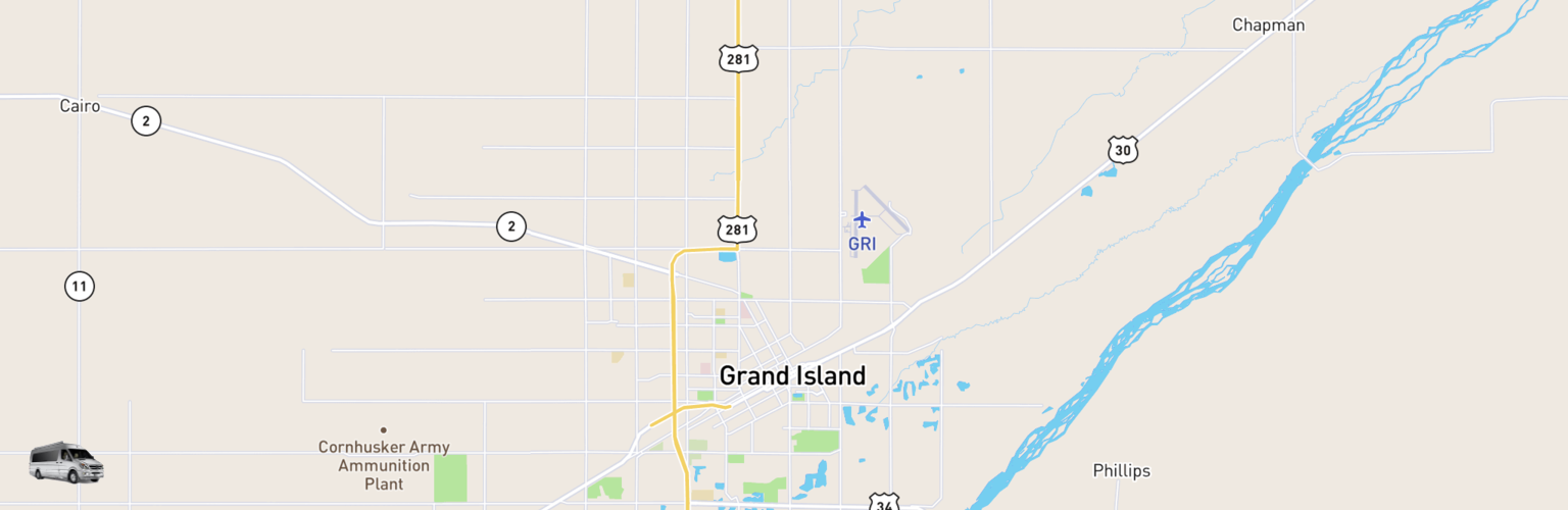 Class B RV Rentals Map Grand Island, NE