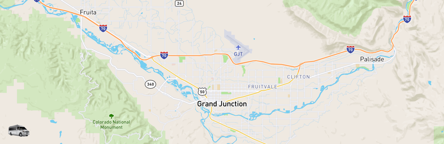 Class B RV Rentals Map Grand Junction, CO