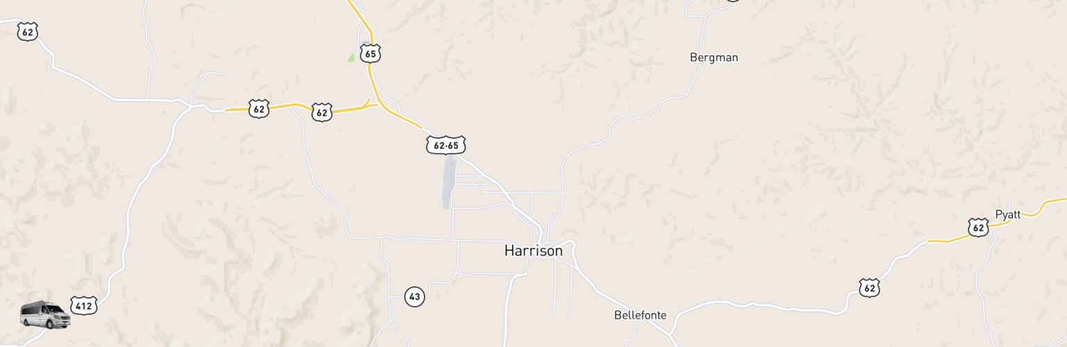 Class B RV Rentals Map Harrison, AR